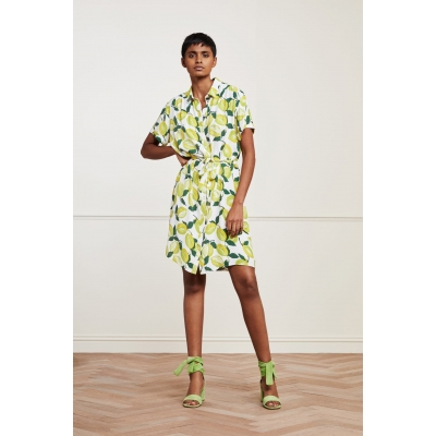 Zomerjurkje van Fabienne Chapot Boyfriend Tess Dress Lime Lights